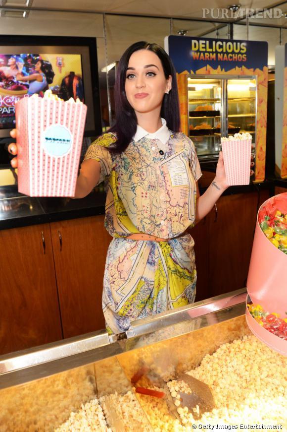 """Katy Perry présente un extrait de son documentaire 3D """" Katy Perry : Part Of Me"""" à Londres."""