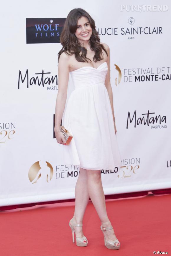 Louise Monot à la cérémonie d'ouverture du Festival de la Télévision de Monte-Carlo.