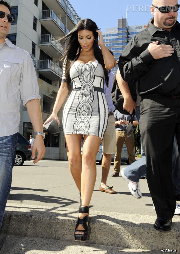 """Le top """"imprimé"""" :  plus modérée et pile dans la tendance, cette robe fait un sérieux effet d'optique !"""