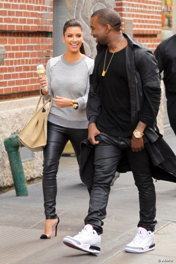 """Le top """"couple"""" :  diva tout comme elle, Kanye West est le parti rêvé pour la bimbo arménienne."""