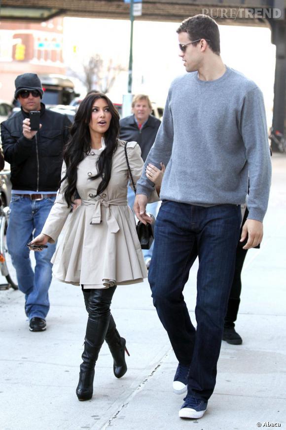 """Le flop """"couple"""" :  difficile de cadrer les deux sur la même photo, c'est déjà mauvais signe. Mais le mariage éclaire de Kim et de Kris Humphries est la preuve que ce couple est un flop."""