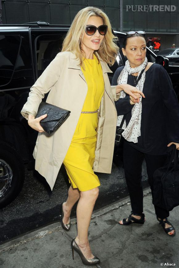 Michelle Pfeiffer arrive à l'émission Good Morning America le 20 juin à New York.