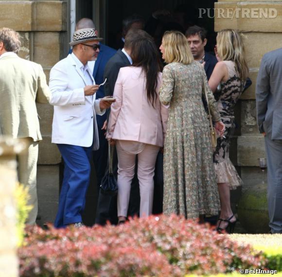 Christian Louboutin, Lucie de la Falaise et Kate Moss au mariage de Jade Jagger et Adrian Fillary
