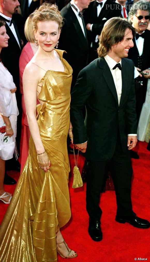 En couple sur tapis rouge  : Nicole Kidman et Tom Cruise se la jouent très hollywoodiens mais avec des talons beaucoup trop hauts, le couple détonne un peu.