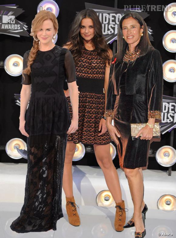 Mimi Rogers, Nicole Kidman et Katie Holmes, les trois ex-femmes de Tom Cruise.