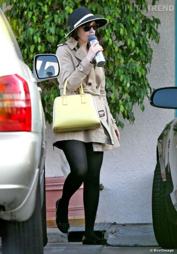 La star l'a choisi en jaune, une couleur vitaminée qui va bien au caractère enjouée de l'actrice !