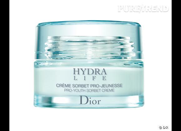 Crème sorbet Hydra Life de Dior, 49,90 €.