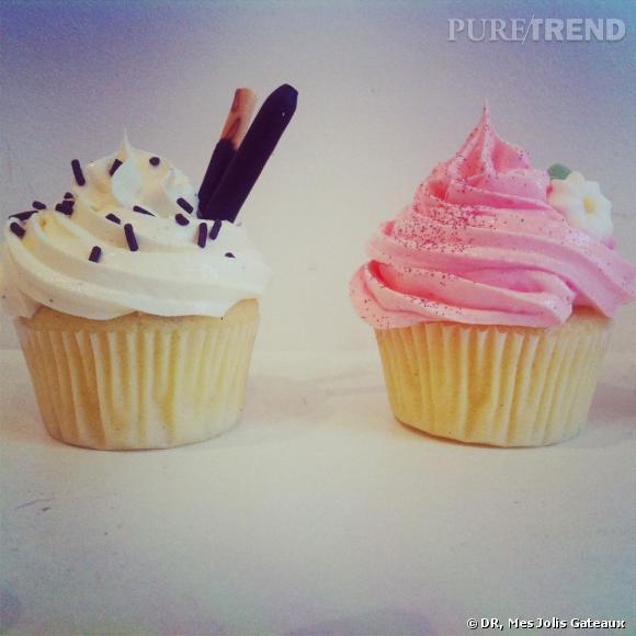 """Les cupcakes """"Mes jolis gâteaux"""" de Coline."""