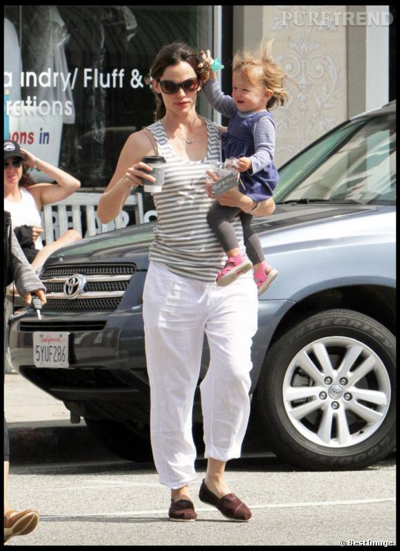 Etre une mère de famille c'est déjà dur, inutile de s'encombrer avec des talons hauts, Jennifer Garner l'a bien compris.