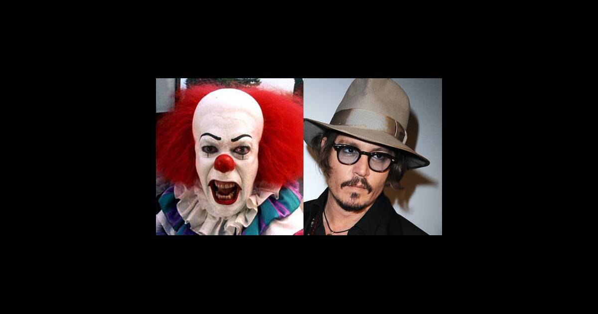 johnny depp a peur des clowns une phobie courante mais qui ne l 39 a pas emp ch de se maquiller. Black Bedroom Furniture Sets. Home Design Ideas