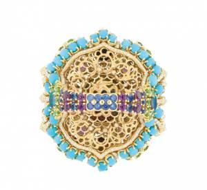 Bague Résille Bouquet d'Opales dos