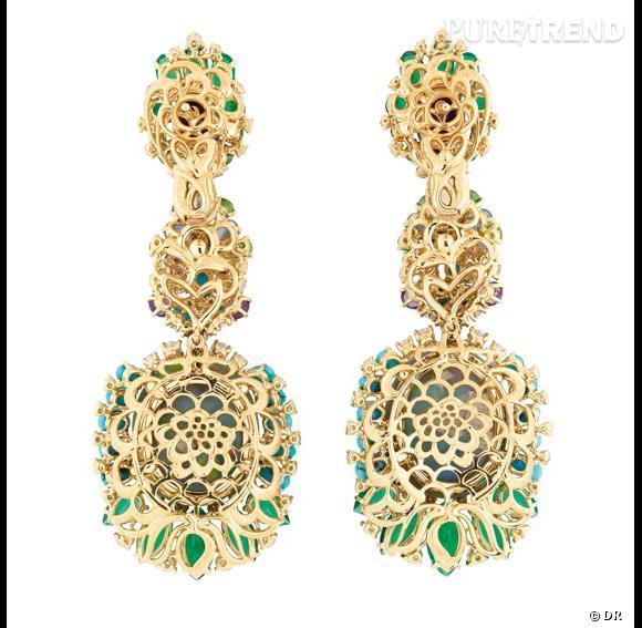 Boucles d'oreilles Résille Bouquet d'Opales dos