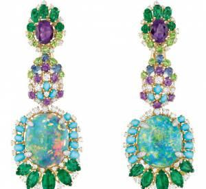 Boucles d'oreilles Résille Bouquet d'Opales