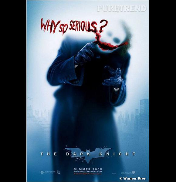 """Le sourire crispant de Joker et sa rengaine : """"Why so serious ?"""" (""""Pourquoi cet air si sérieux ?"""")."""