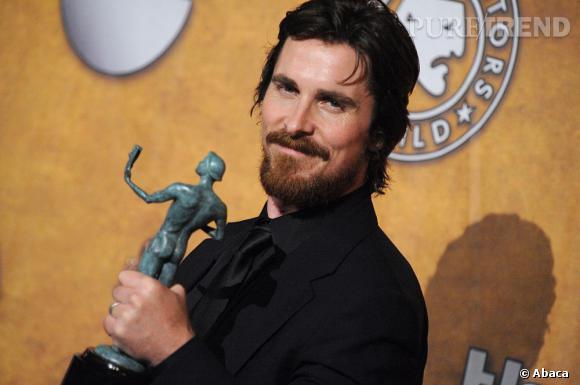 """Christian Bale et son Actors Guild Award pour """"Fighter"""" également."""