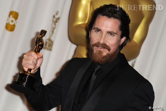 """Christian Bale et son Oscar pour """"Fighter"""", et de trois !"""