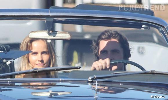 """Christian Bale et Isabel Lucas sur le tournage de """"Cups""""."""