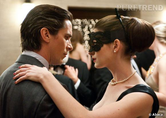 "Christian Bale et Anne Hathaway dans ""The Dark Knight Rises""."