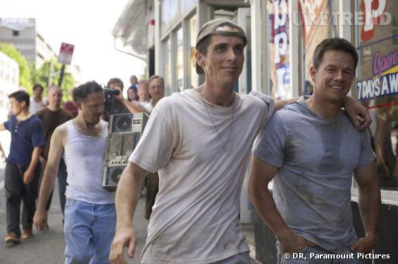 """Christian Bale méconaissable dans """"Fighter"""" aux côtés de Mark Wahlberg."""