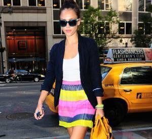 Jessica Alba, une fille haute en couleur dans les rues de la Grosse Pomme