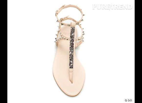 Le must have de Marie :     Sandales ornées de Swarovski, Zara, 79,95 €