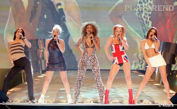 Les Spice Girls coiffées selon leur personnalité dans les années 90.