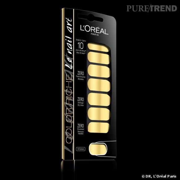 L'Oréal Paris se lance dans le nail art avec la collection Color Riche. Ici, la référence Feuille d'Or.