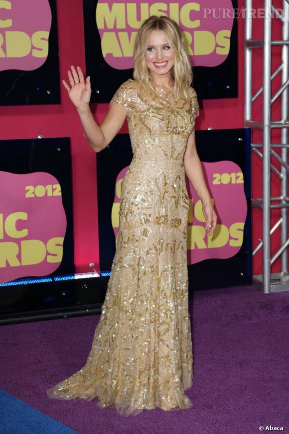 En tout cas, la belle a déjà experimenté la robe Golden Girl, et le résultat est sublime !