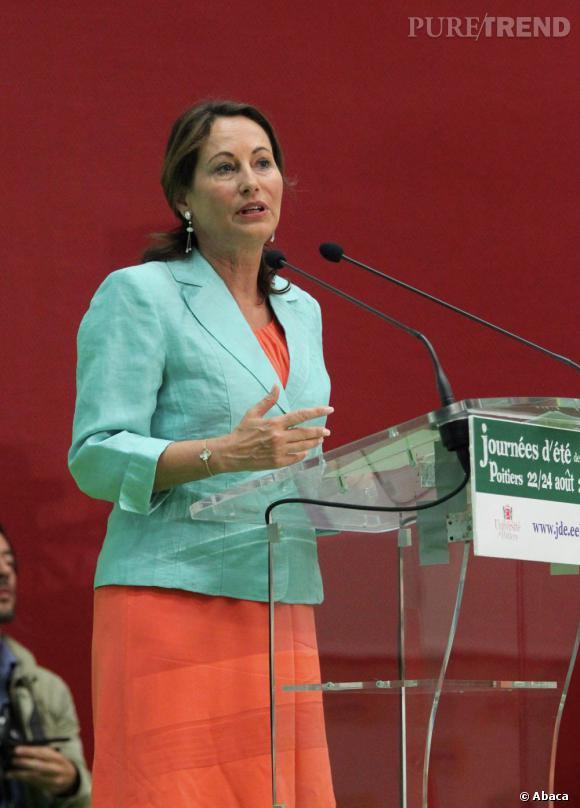La tenue la plus originale : Ségolène Royal ose les couleurs pastel, la tendance de l'été 2012