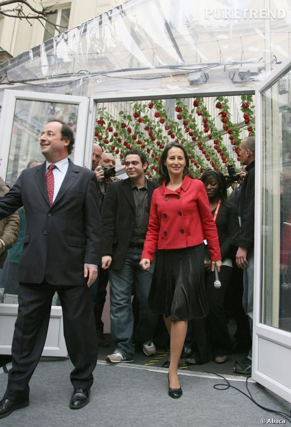 Le look avec François : La politique exige des tenues chic et sobres. Le couple mixe avec goût le noir et rouge
