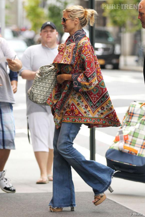 Heidi Klum s'offre un joli flop mode dans les rues de New York le 3 septembre dernier.