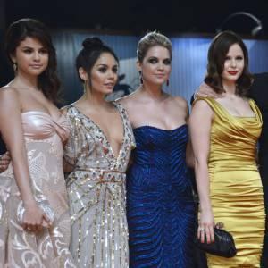 "Selena Gomez, Vanessa Hudgens, Ashley Benson, Rachel Korine, James Franco et Harmony Korine à la première de ""Spring Breakers"" à la Mostra de Venise."