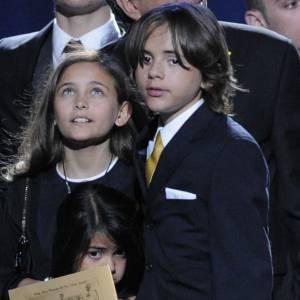 Paris Jackson et ses frères lors de l'hommage à Michael Jackson.