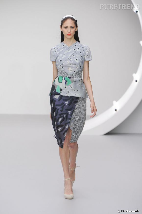 Best-of de la Fashion Week de Londres Printemps-Eté 2013 : Michael van der Ham Délicatesse des imprimés, force de la coupe, tout y est.
