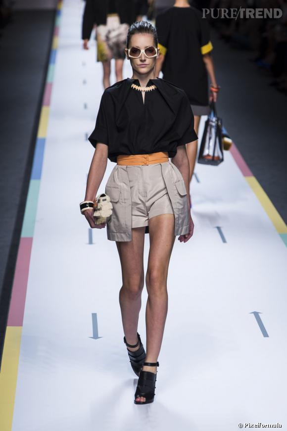 Best-of de la Fashion Week de Milan Printemps-Eté 2013 : Fendi Silhouette de baroudeuse urbaine, ethnique et graphique. Proportions sublimes.