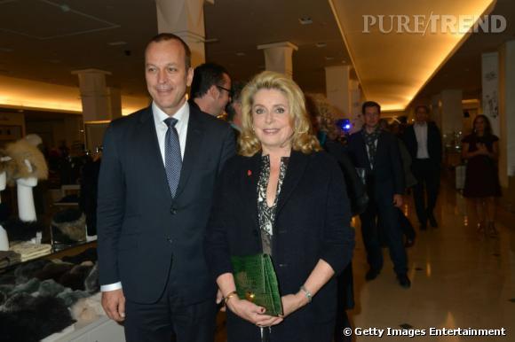 Catherine Deneuve et Patrice Wagner, PDG du Bon Marché.