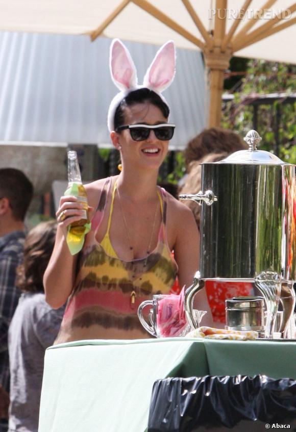 Katy Perry fêtera le 23 ocobre prochain son divorce d'avec Russell Brand.