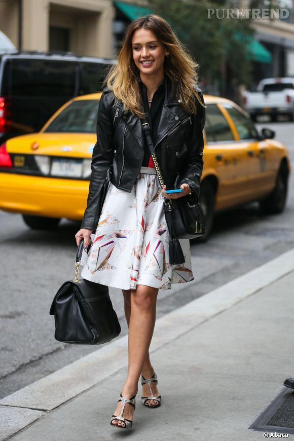 Jessica Alba à New York pour son entreprise Honest.com