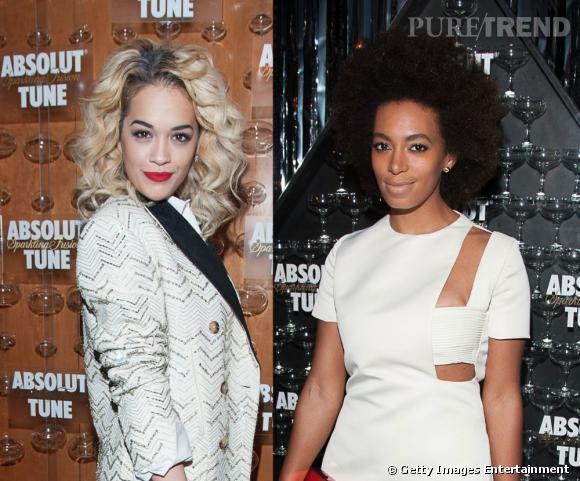 Rita Ora et Solange Knowles à la soirée de lancement de Tune d'Absolut à New York.