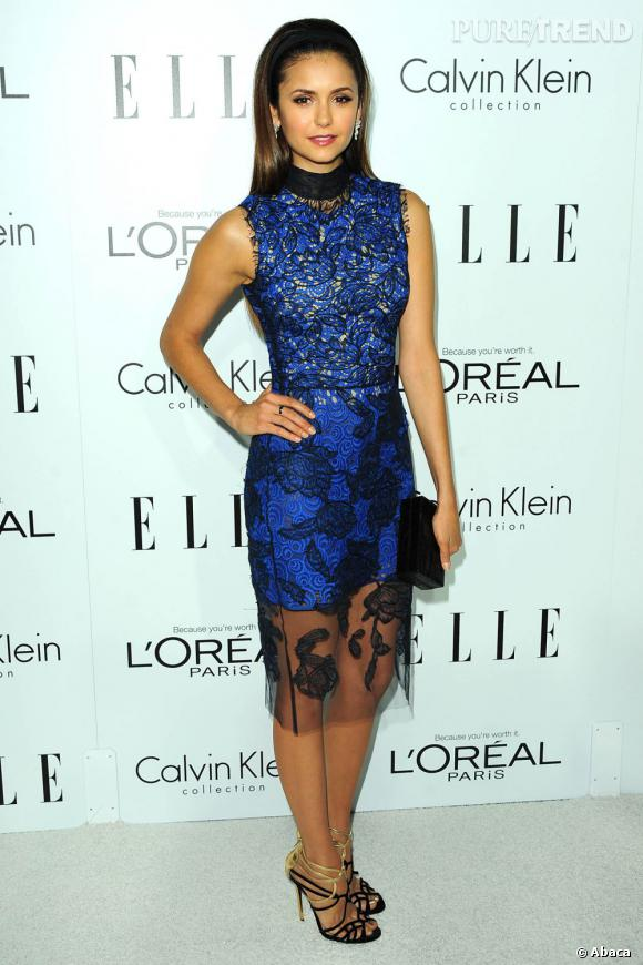 Nina Dobrev aux Elle Women Awards 2012 à Los Angeles.