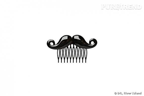 Barrette Moustache, River Island, £4