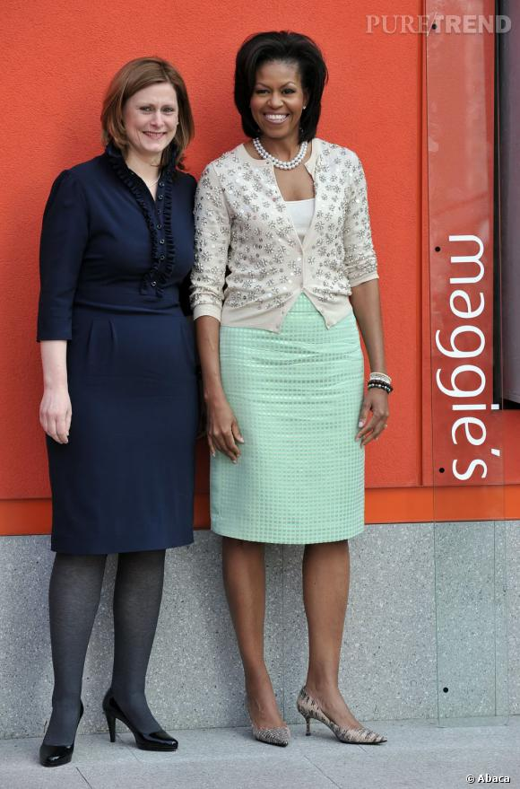 Michelle Obama en J.Crew en 2009, toujours mode.