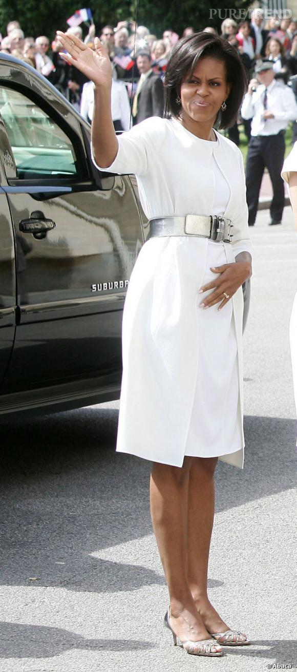 Michelle Obama adore les robes blanches.