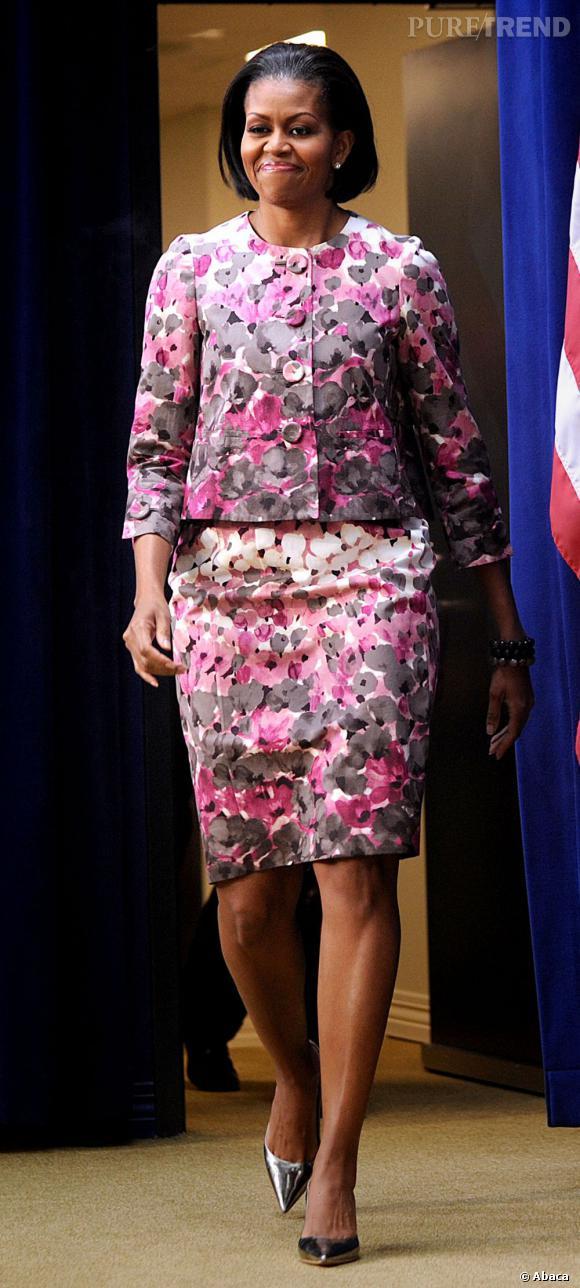 Michelle Obama, le style fleuri.