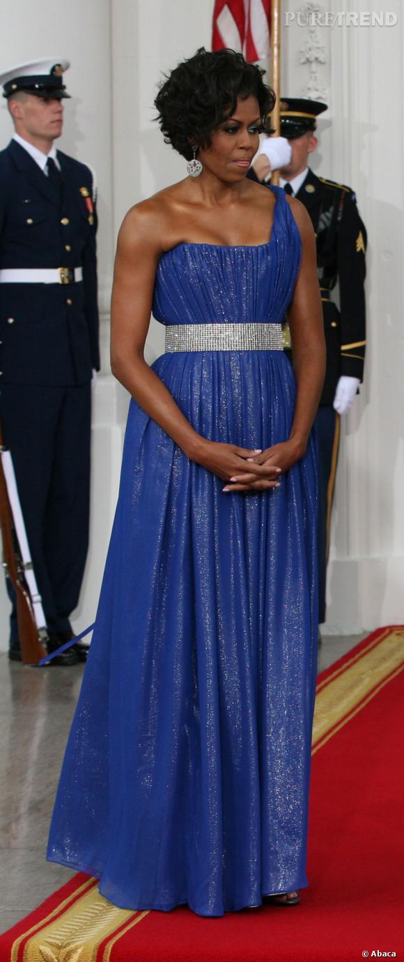 Michelle Obama en Peter Soronen.