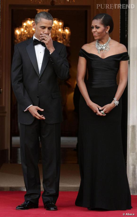 Michelle Obama en Ralph Lauren à Londres.