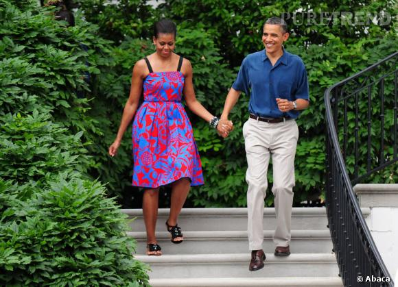 Michelle Obama, colorée en Sophie Theallet, toujours en 2011.