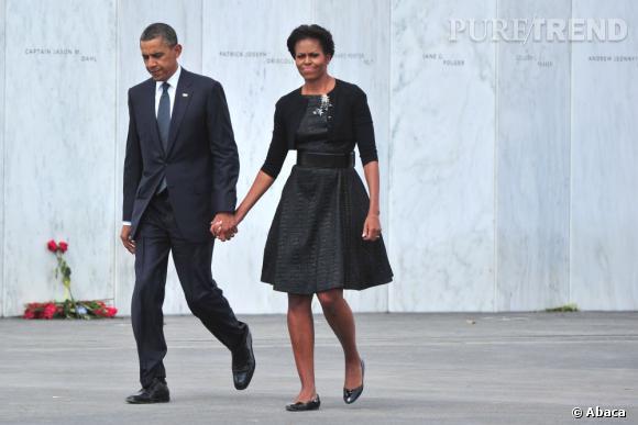 Michelle Obama mise sur l'indémodable petite robe noire.