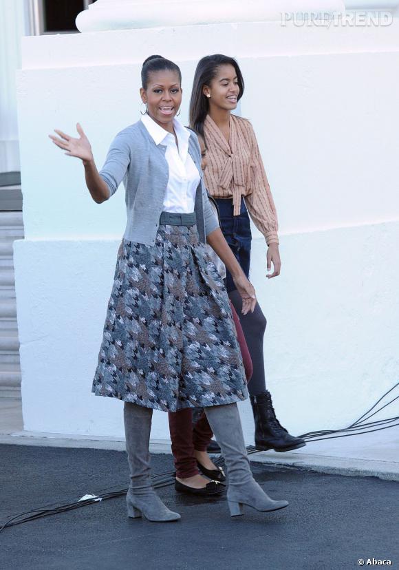 Michelle Obama, écolière moderne.