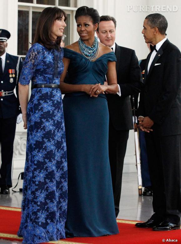 Michelle Obama en Marchesa.